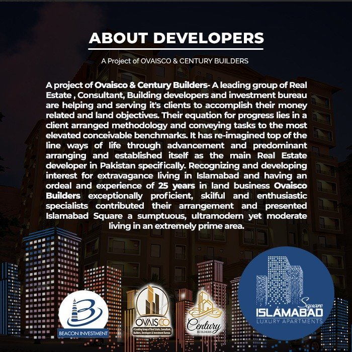 About Developers of Islamabad Square-Owais co & Century Builders