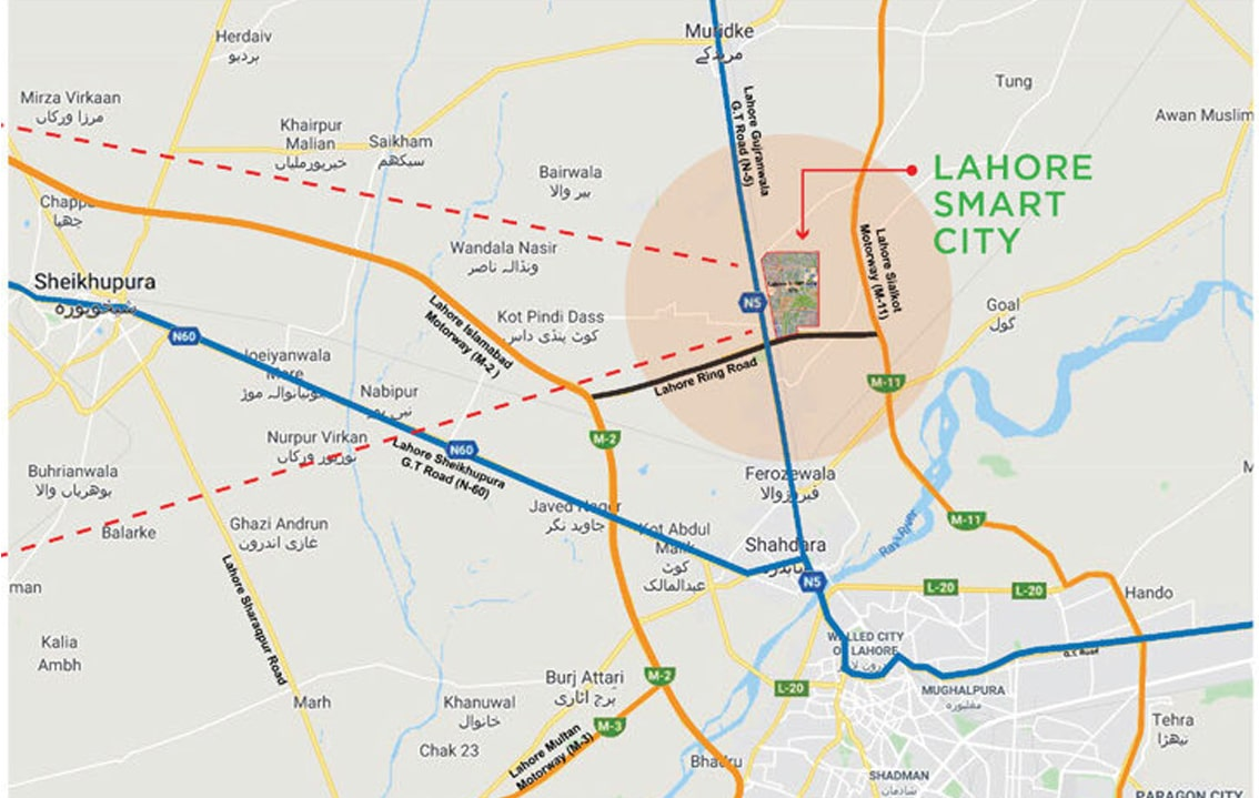 lahore-smart-city-location-map