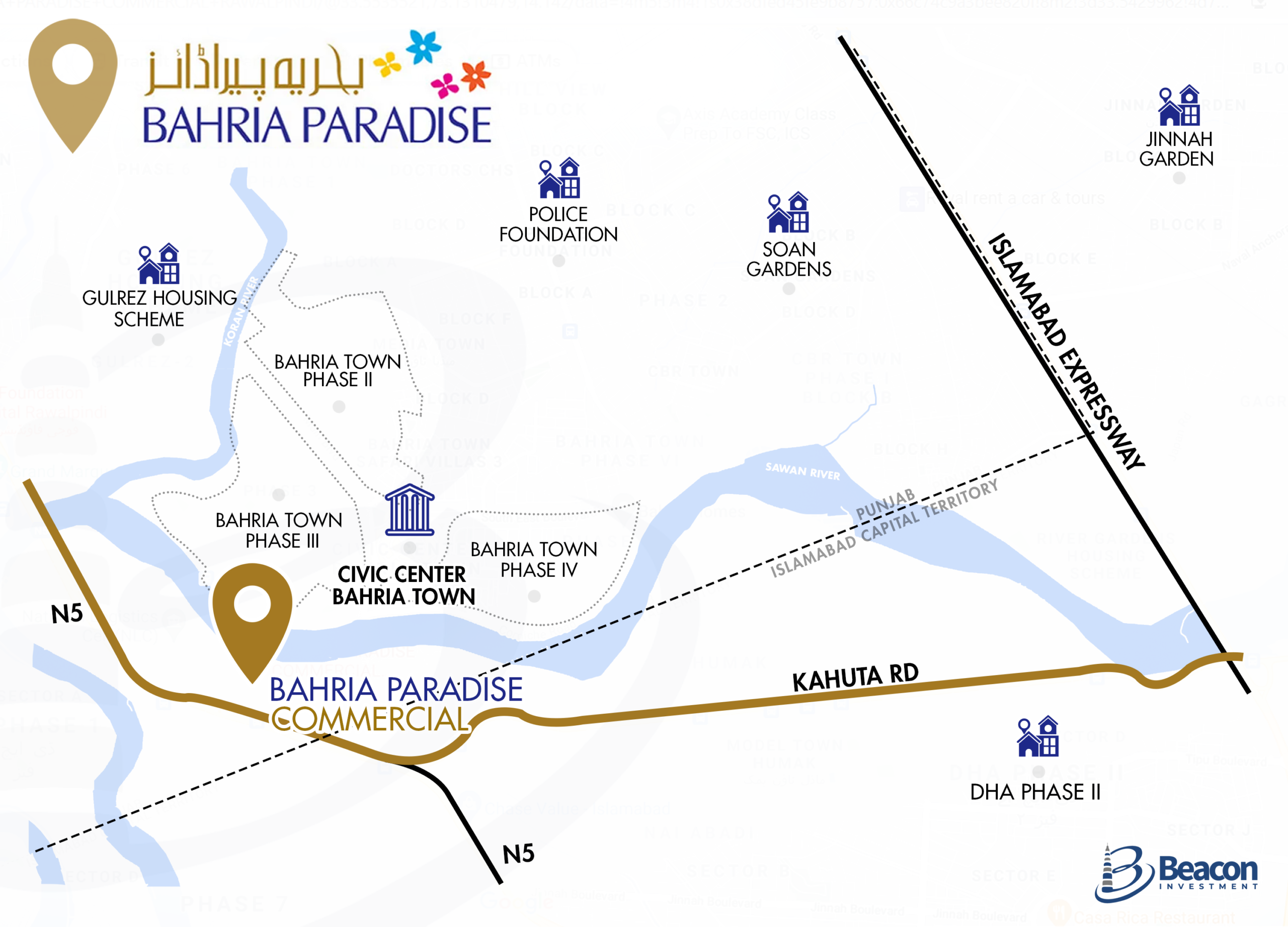 bahria_paradise_commercial_islamabad_location_map