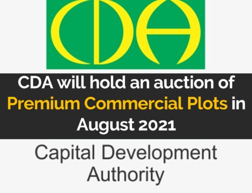 CDA will hold an auction of Premium Commercial Plots in August 2021