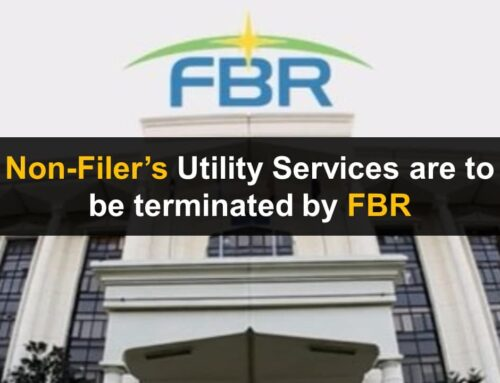 Non-Filers' Utility Services are to be terminated by FBR
